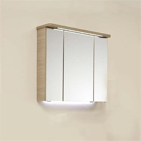 Illuminated Mirror Bathroom Cabinet by Pineo Bathroom Mirror Cabinet With Led Illuminated Canopy