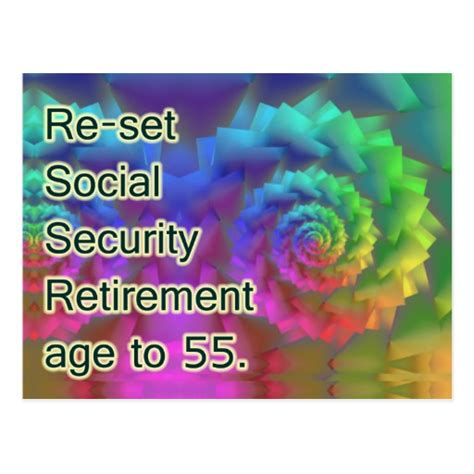 make your own social security card social security retirement at 55 postcard zazzle