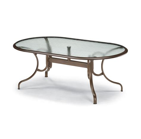 replacement glass table tops for patio furniture telescope casual 43 x 75 inch oval glass top patio dining