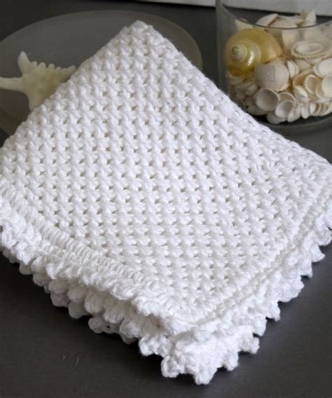 picot edge knitting picot edge knit dishcloth pattern favecrafts