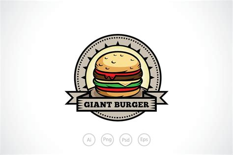 and tasty burger logo template logo templates