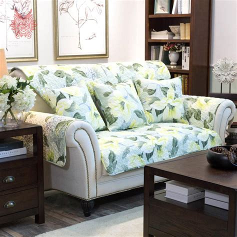 floral sofa slipcovers free shipping american style green floral print quilting