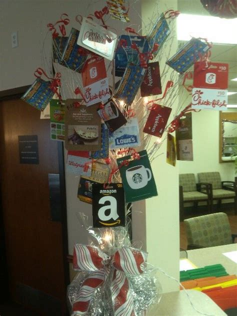 how to make a gift card tree fundraiser idea ask local businesses to donate small