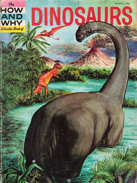 dinosaur picture book in the time of chasmosaurs vintage dinosaur the