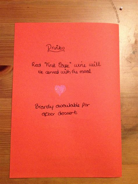 make your own menu cards create your own special s day menu card