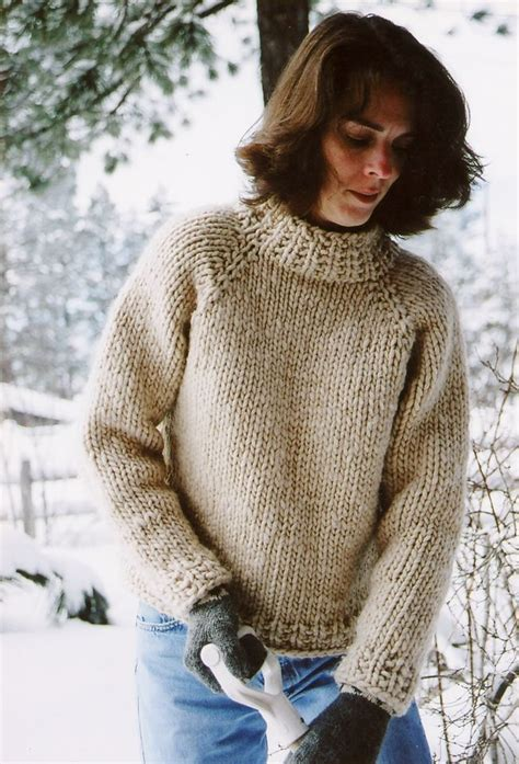 big needle knitting sweater patterns weekend neck pullover by knitting and simple