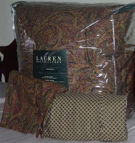 ralph orange paisley king comforter set new 1st te 25 den fazla en iyi ralph comforter