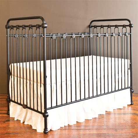 rod iron baby cribs baby crib distressed black
