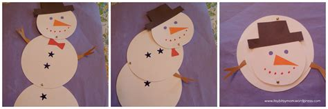 snowman crafts for melting snowmen itsybitsymom