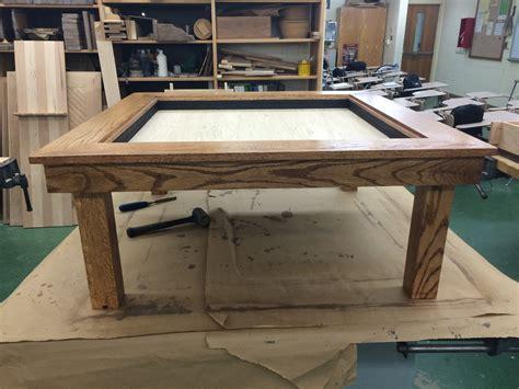 infinity woodworking 15 year student creates award winning infinity table