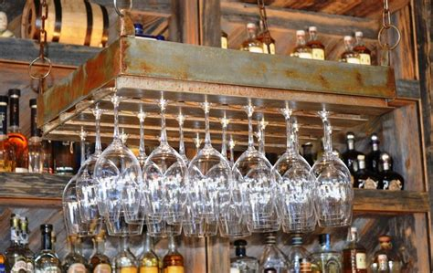 Pallet Kitchen Island clever ways of adding wine glass racks to your home s d 233 cor