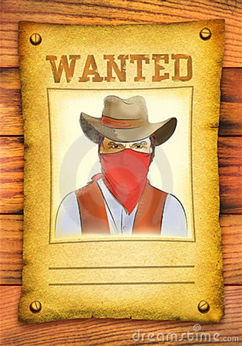 woodworker wanted wanted poster with bandit in mask stock image