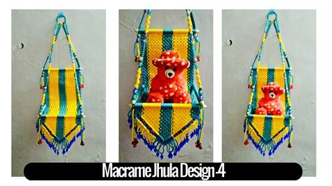 how to make and craft for diy simple tutorial of macrame jhula design 4 macrame