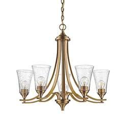seeded glass chandelier millennium lighting natalie heirloom bronze five light