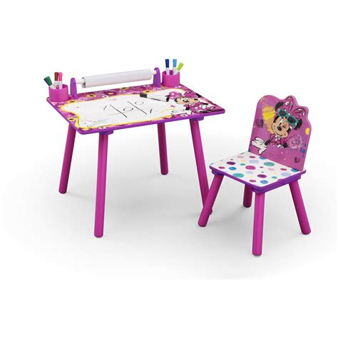 activity desk and chair desk chair play drawing disney minnie mouse