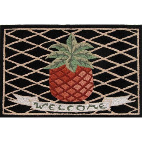 pineapple rubber st door mat knotted 24 quot x48 quot doormat