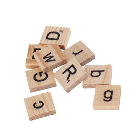scrabble wooden letters 100 wooden alphabet tiles black letters numbers for