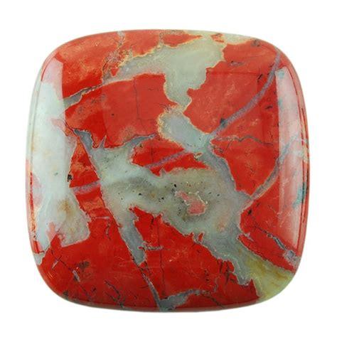 brecciated jasper brecciated jasper gemstone cabochon square 35mm pkg 1
