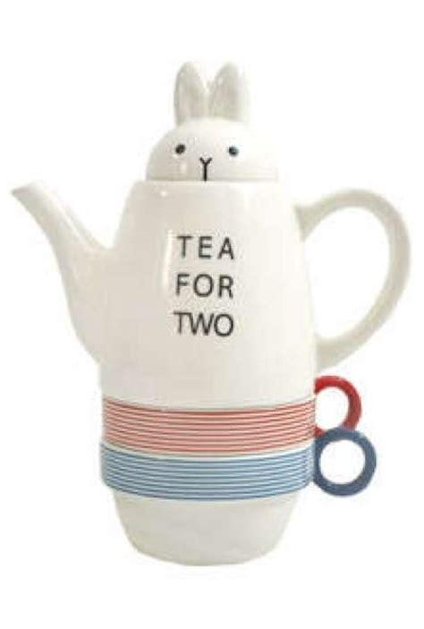 tea for two adorable animal teapots tea for two bunny and panda tea