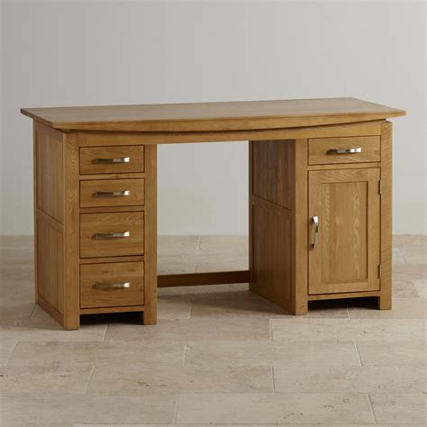 oak desk tokyo solid oak computer desk by oak furniture land