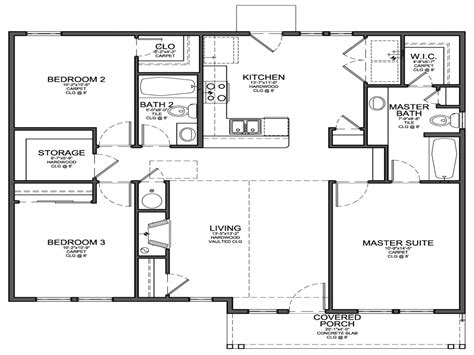 simple 4 bedroom floor plans simple 4 bedroom house plans small 3 bedroom house floor