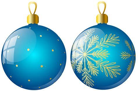 ornaments balls transparent two blue balls ornaments clipart
