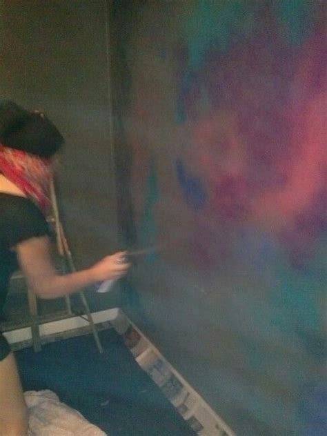 spray painting on walls spray painting galaxy wall s bedroom
