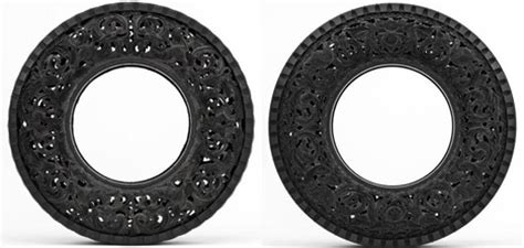 rubber st artists don t burn rubber carved recycled tire urbanist