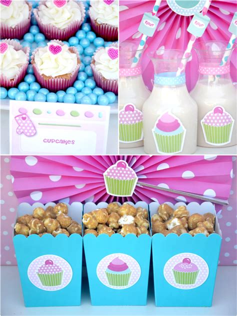 a pink cupcake baking birthday