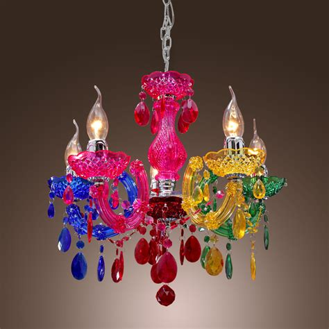 colourful chandelier colorful rainbow classic vintage artistic ceiling