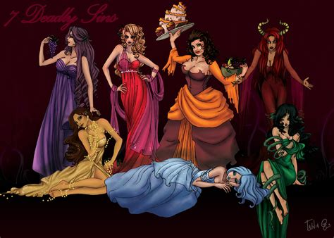 seven deadly sins seven deadly sins by attitudechick on deviantart