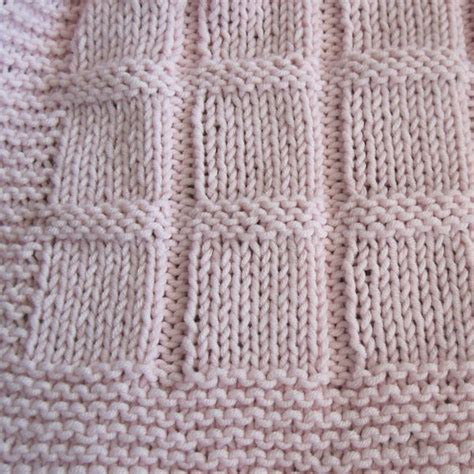 knit baby blanket pattern beginner baby blocks blanket knit great for beginners