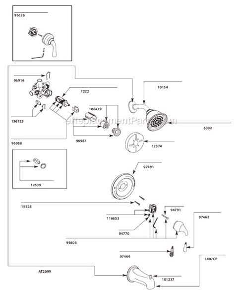 Belle Foret Kitchen Faucet moen t2449cp parts list and diagram ereplacementparts com