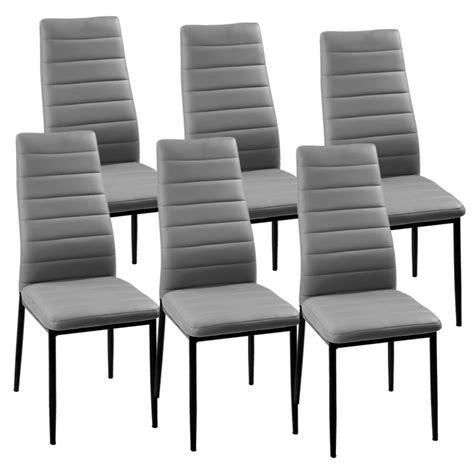 deco in lot de 6 chaises gris iris iris grisx6