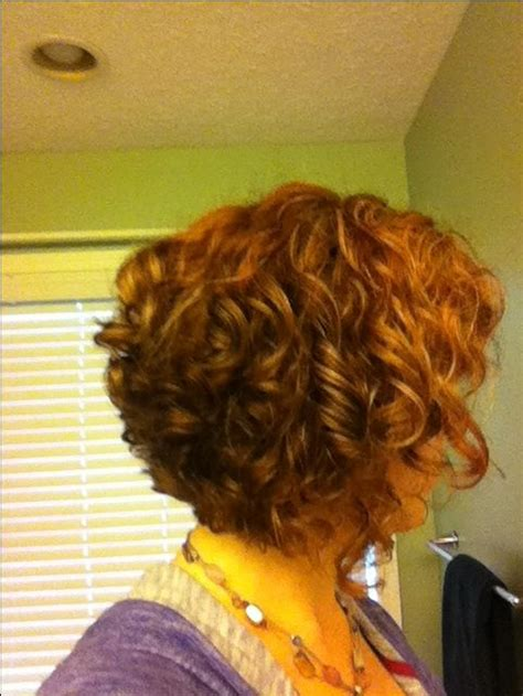 stacked bob haircut pictures curly hair curly stacked bob red its all about the hair