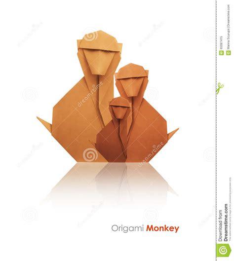 origami monkeys paper origami monkey comot