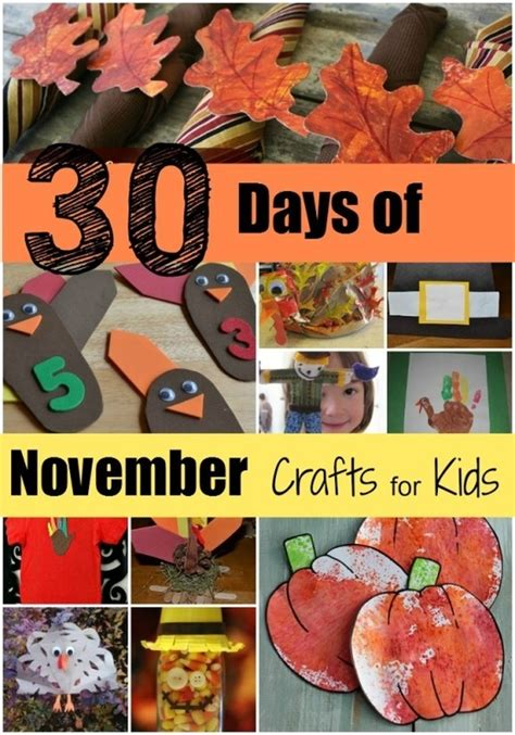 30 Days Of November Crafts For Arts And Crafts