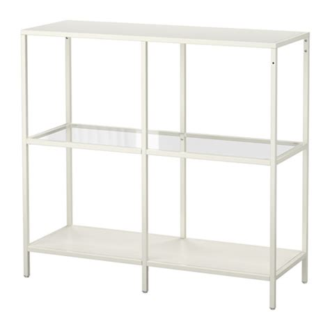 white shelving unit vittsj 214 shelving unit white glass ikea