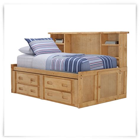 city furniture cinnamon mid tone storage bookcase daybed