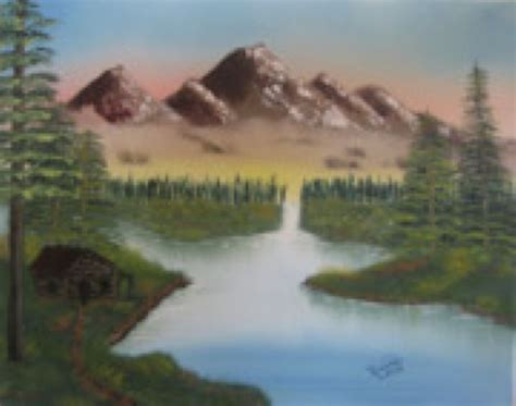 bob ross painting buy shopping painting bob ross mountain retreat 86091 at