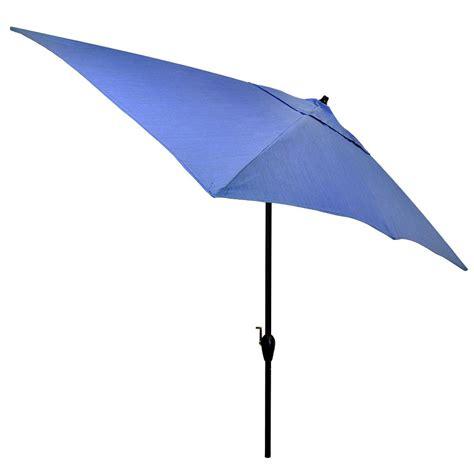 10 patio umbrella hton bay 10 ft x 6 ft aluminum patio umbrella in