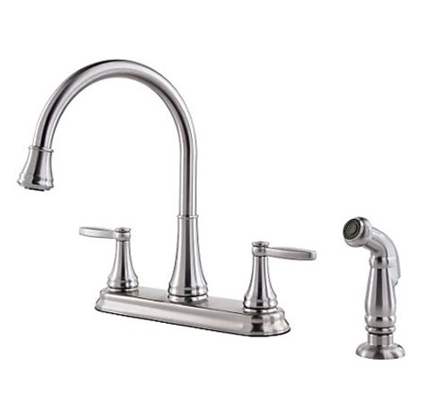 price pfister kitchen faucets stainless steel glenfield 2 handle kitchen faucet f 036 4gfs pfister faucets