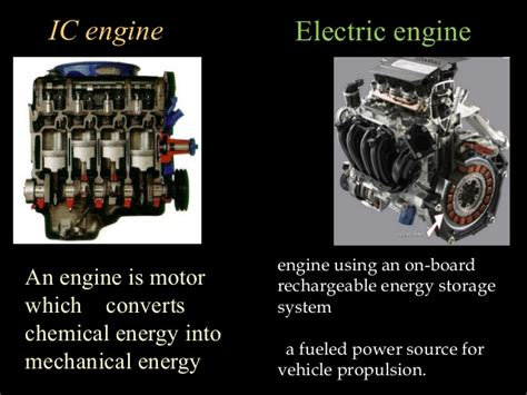 Electric Motor Engine by Combustion Engine Vs Electric Engine