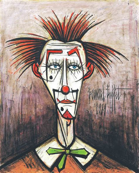 bernard buffet sad clown series
