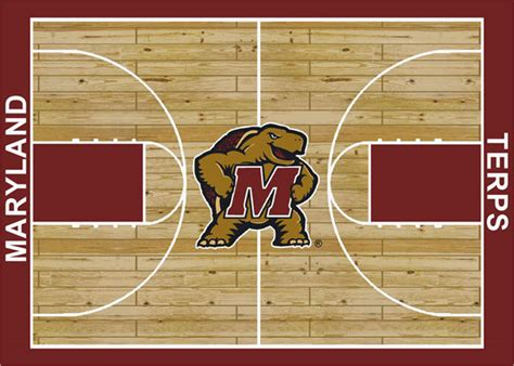 area rugs maryland maryland terrapins home court area rug