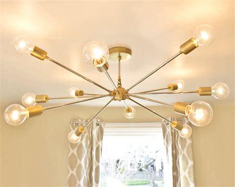 modern brass chandelier free shipping the shepard modern brass sputnik chandelier
