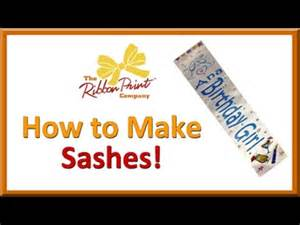 for to make how to make sashes