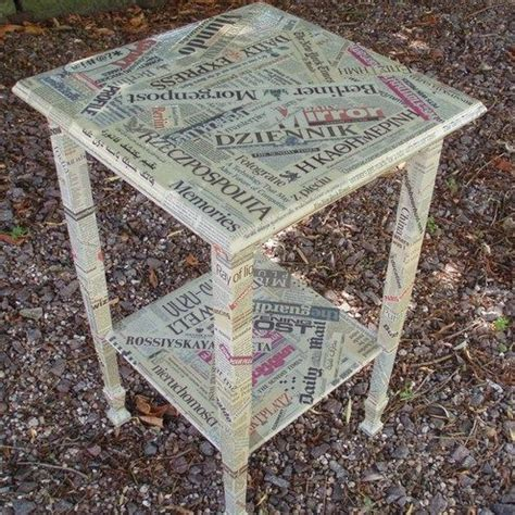 decoupage with newspaper decoupage newspaper furniture ideias para reforma