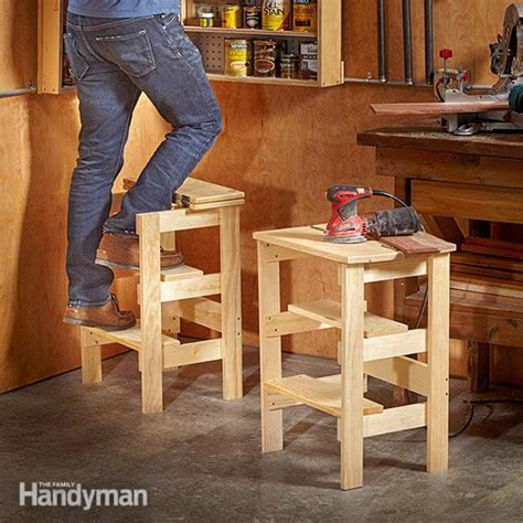 family woodworking ridiculously simple shop stool plans the family handyman