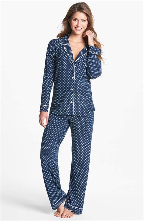 knit pajamas eberjey sleep chic knit pajamas in blue navy ivory